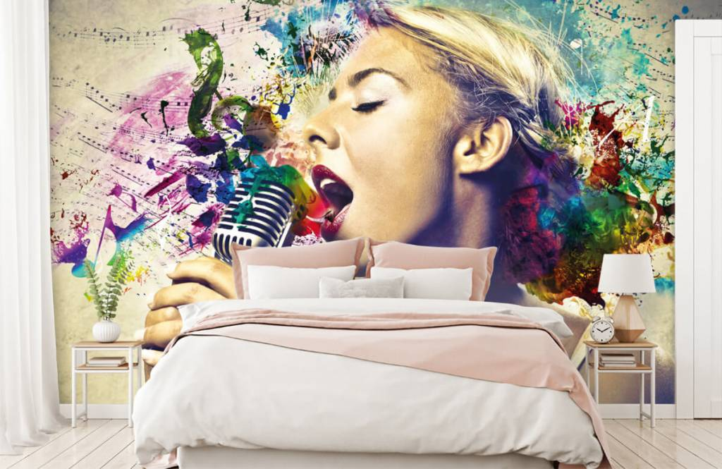 Modern - Vintage singer - Teenage room 2