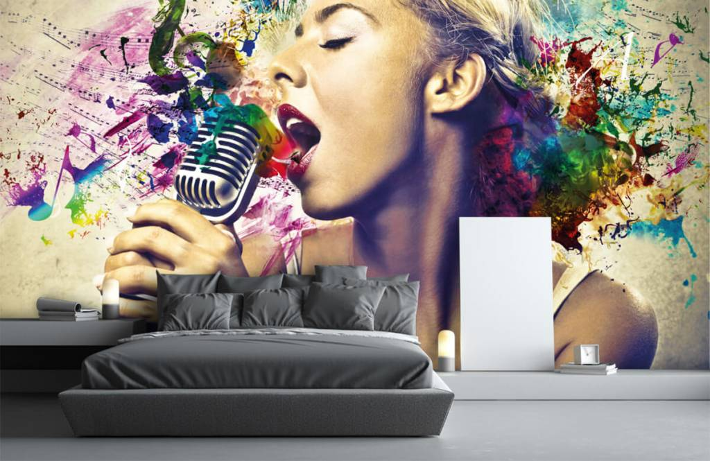 Modern - Vintage singer - Teenage room 3