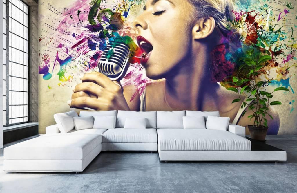 Modern - Vintage singer - Teenage room 5