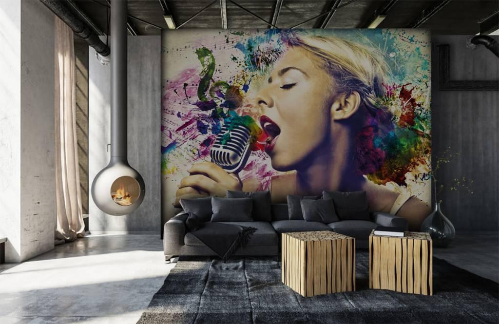 Modern - Vintage singer - Teenage room 6