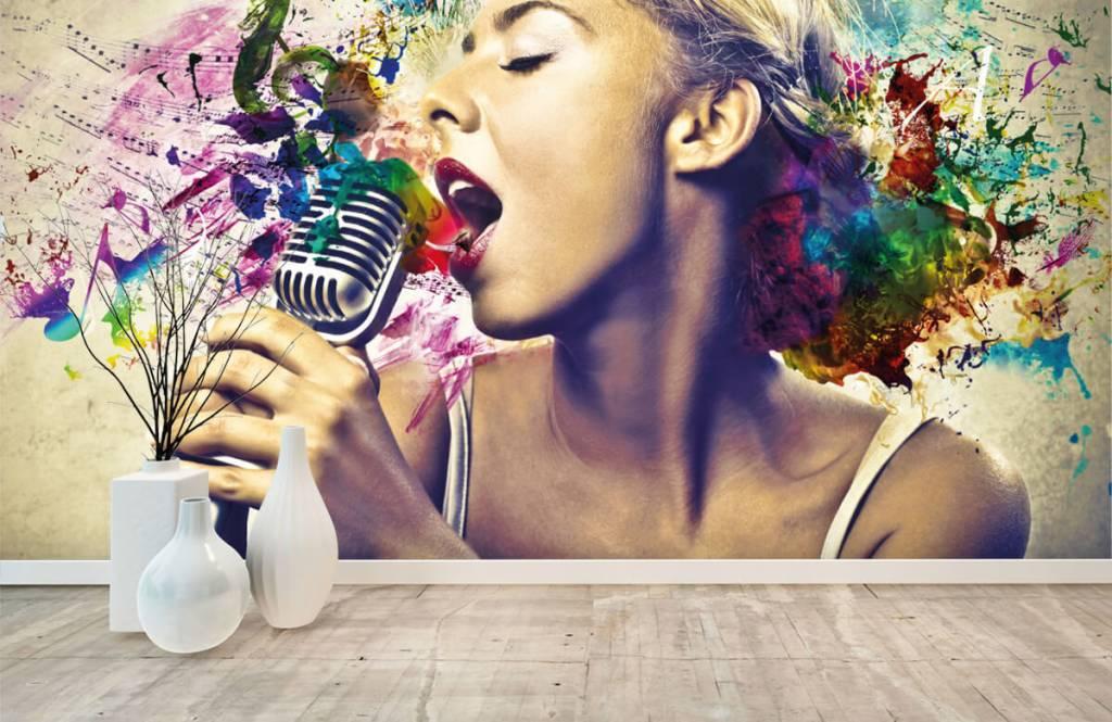 Modern - Vintage singer - Teenage room 8