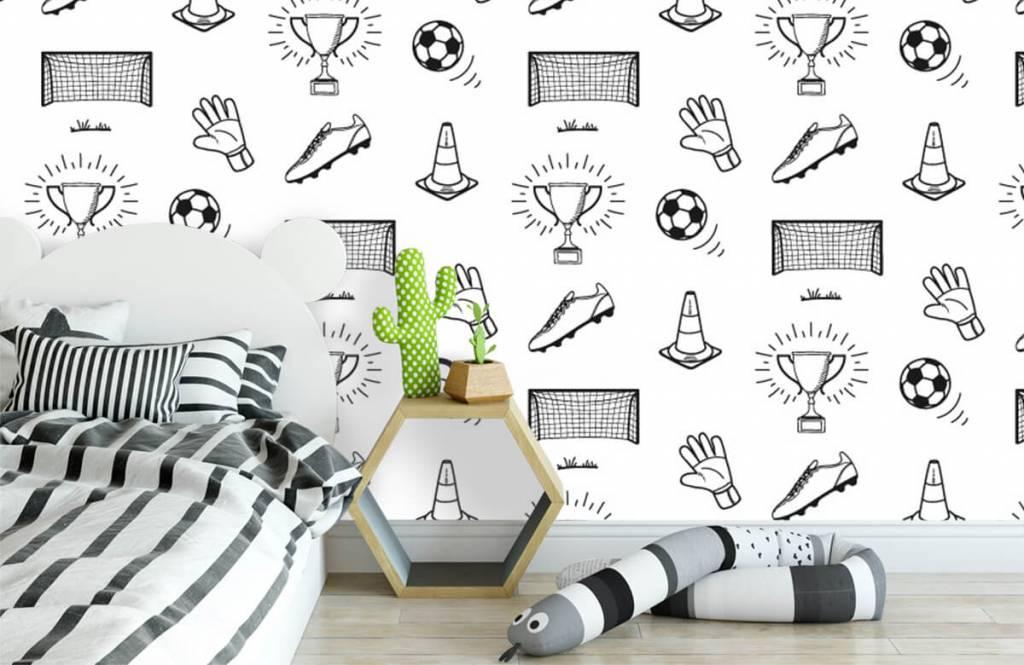 Soccer wallpaper - Soccer Pattern - Children's room 1