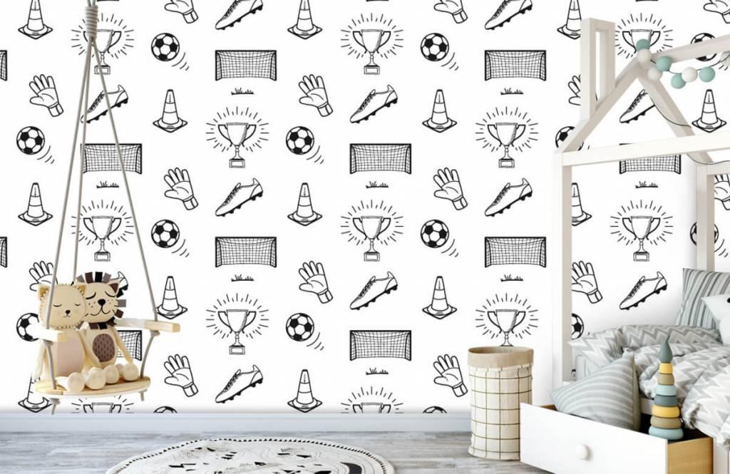 Soccer wallpaper - Soccer Pattern - Children's room 2