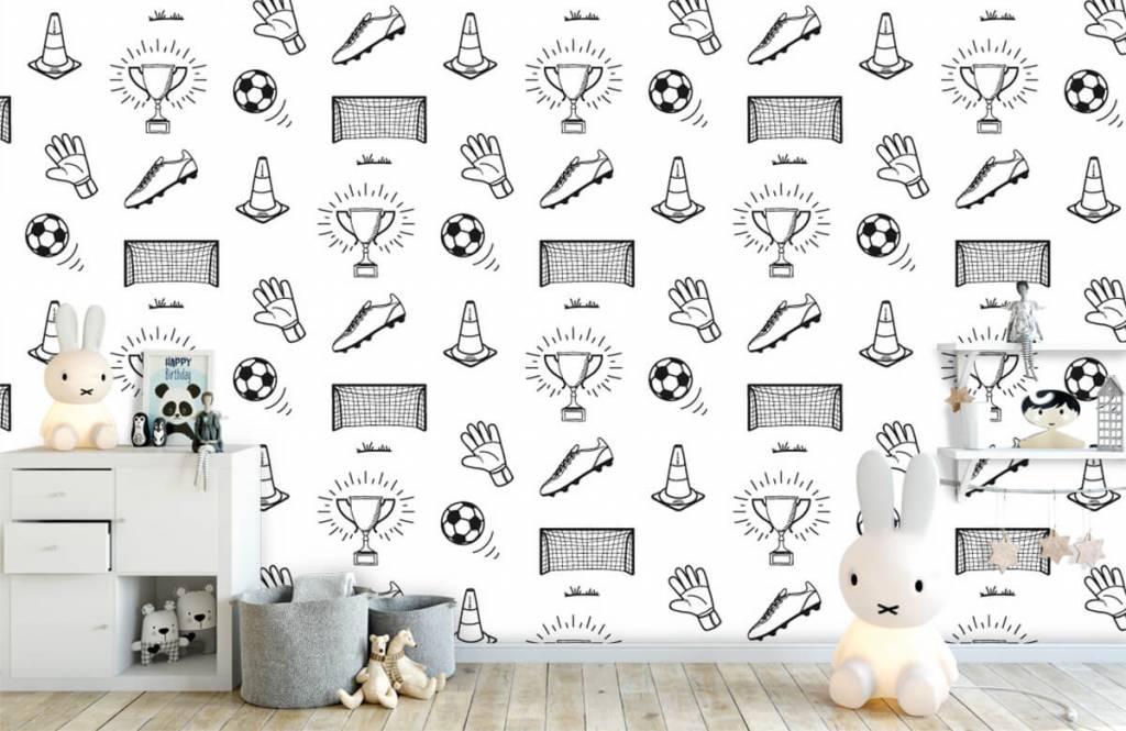 Soccer wallpaper - Soccer Pattern - Children's room 3