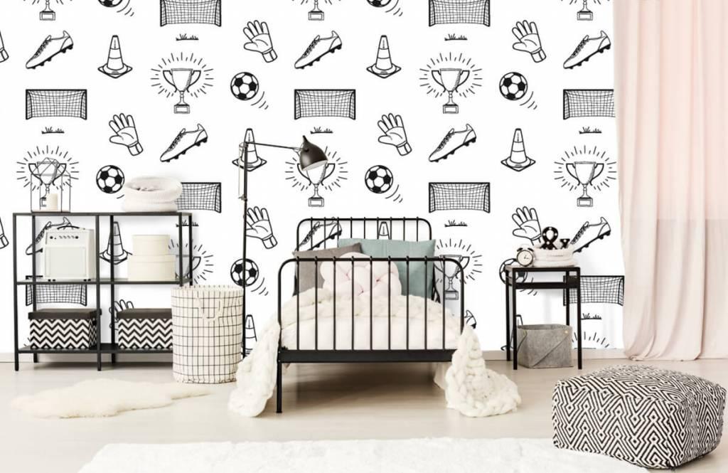 Soccer wallpaper - Soccer Pattern - Children's room 4
