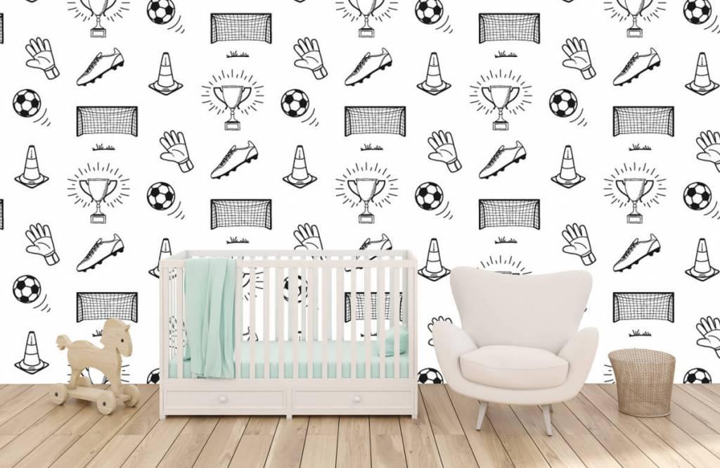 Soccer wallpaper - Soccer Pattern - Children's room 5