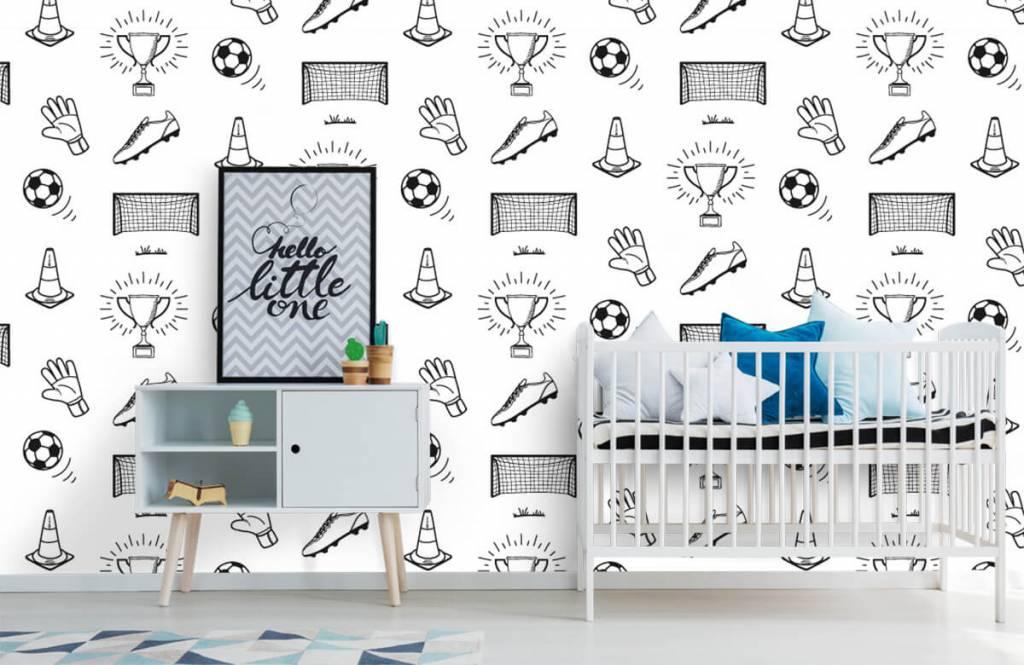 Soccer wallpaper - Soccer Pattern - Children's room 6