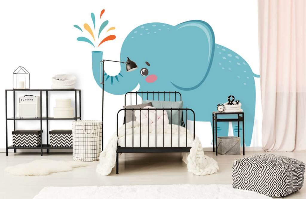 Elephants - Cheerful elephant - Baby room 1