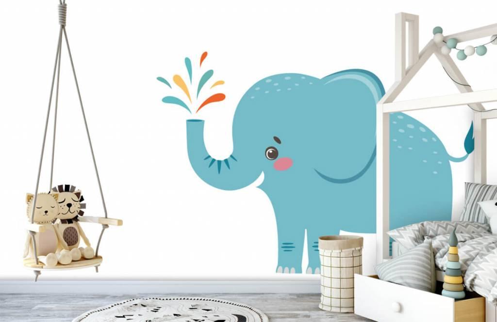 Elephants - Cheerful elephant - Baby room 3