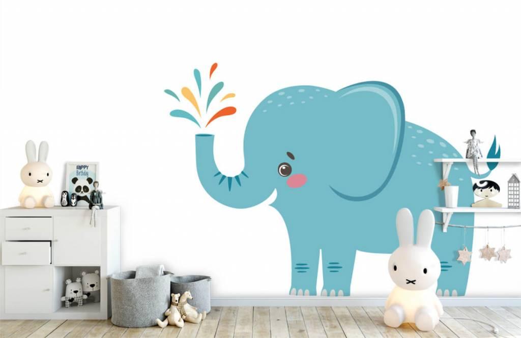 Elephants - Cheerful elephant - Baby room 4