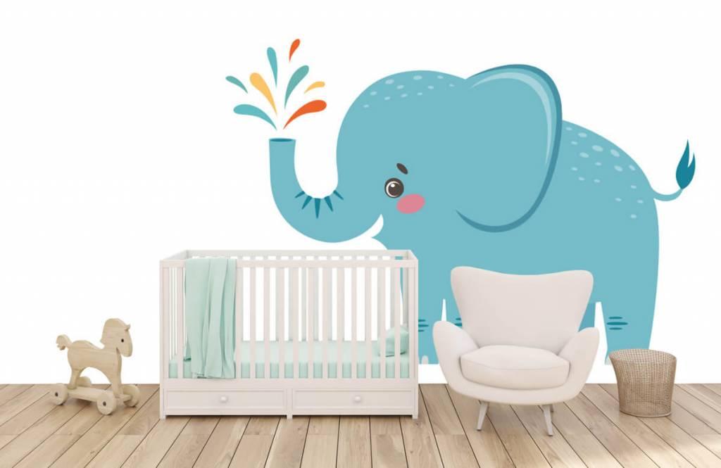 Elephants - Cheerful elephant - Baby room 5