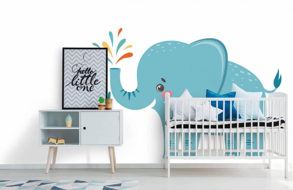 Elephants - Cheerful elephant - Baby room 6