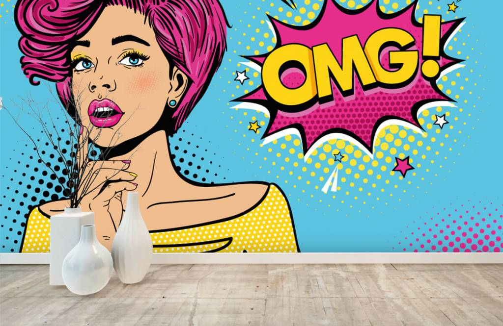 Modern - Woman in pop art style - Teenage room 1