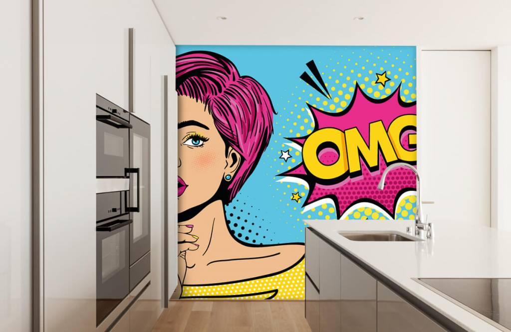 Modern - Woman in pop art style - Teenage room 4