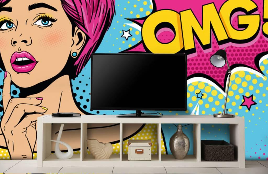 Modern - Woman in pop art style - Teenage room 5