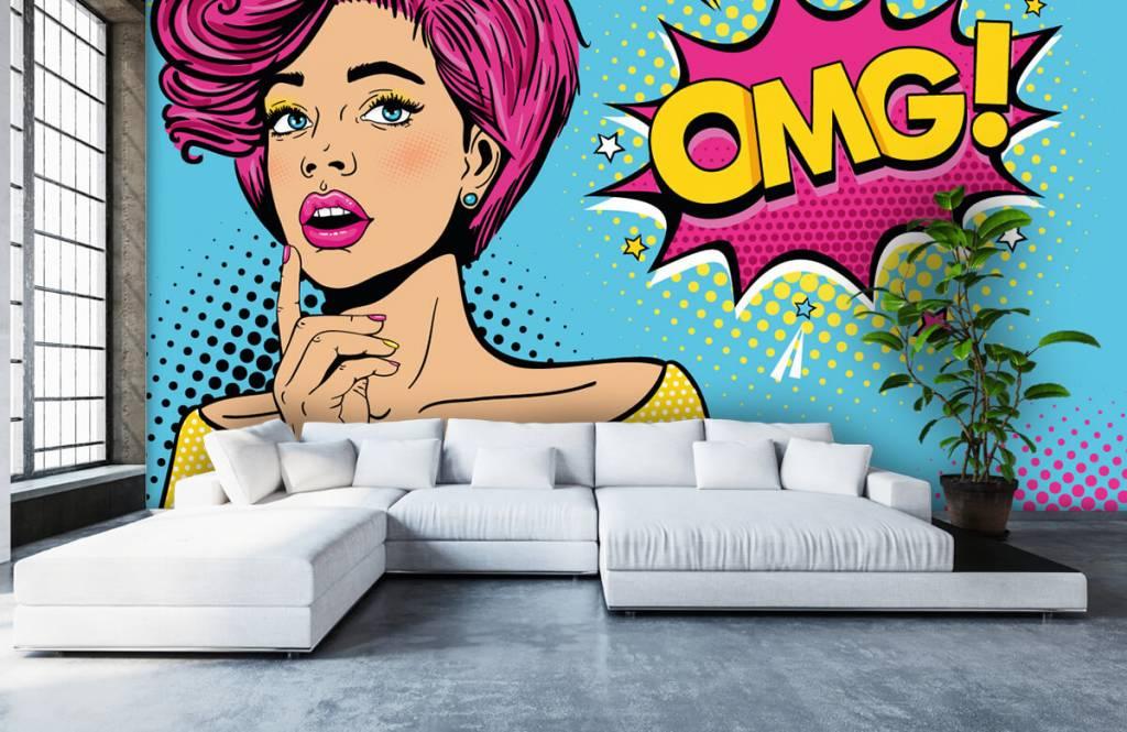 Modern - Woman in pop art style - Teenage room 6