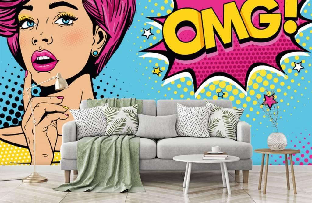 Modern - Woman in pop art style - Teenage room 8