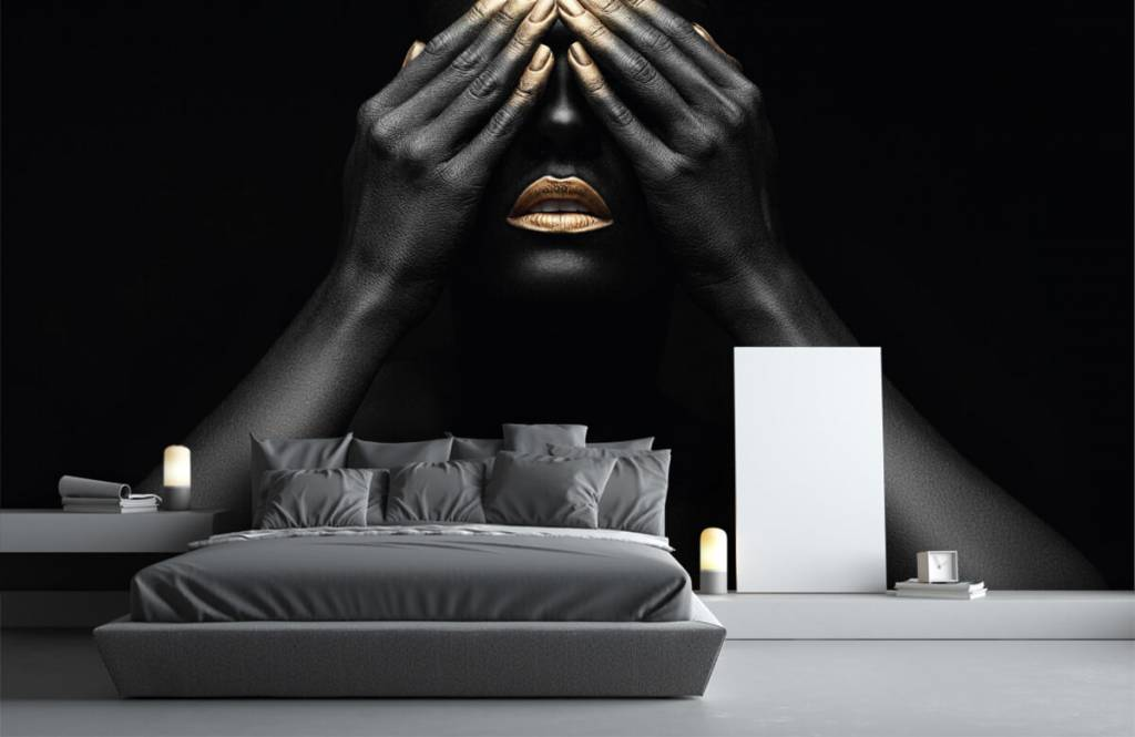 Modern - Woman with hands in front of her eyes - Living room 3
