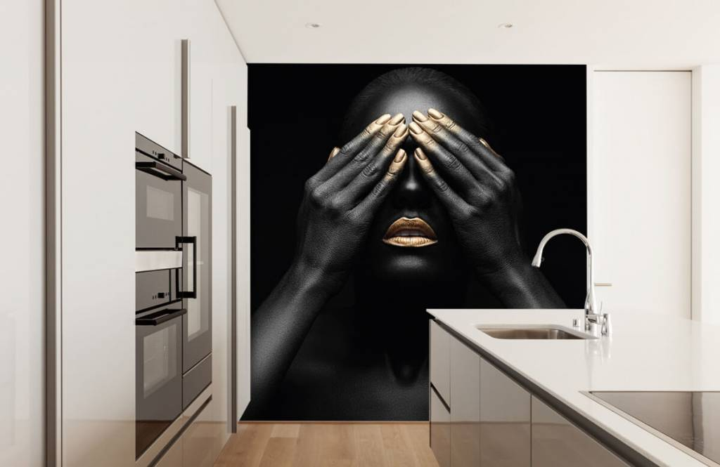 Modern - Woman with hands in front of her eyes - Living room 4
