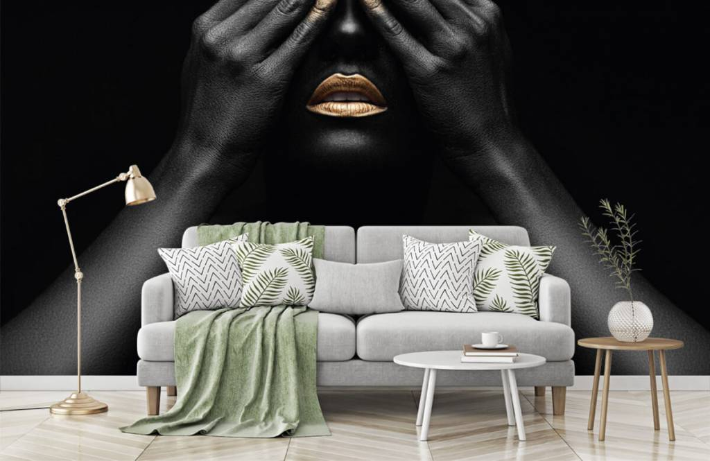 Modern - Woman with hands in front of her eyes - Living room 7