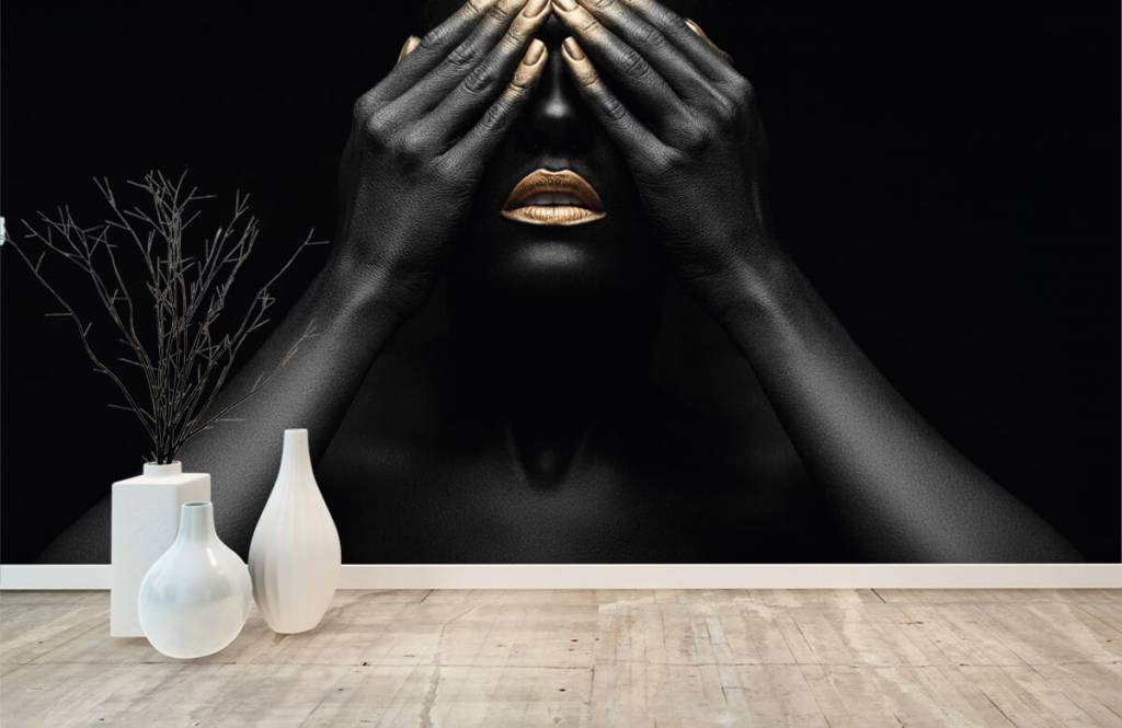 Modern - Woman with hands in front of her eyes - Living room 8