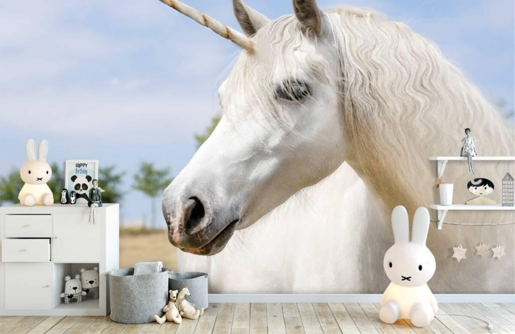 Horses - White unicorn - Children's room 1