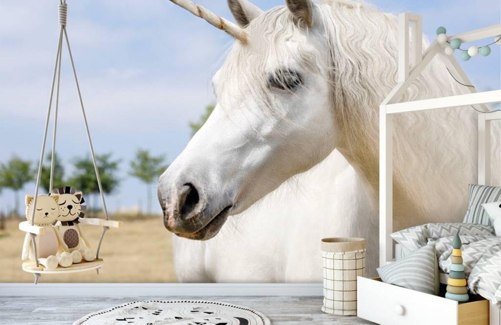 Horses - White unicorn - Children's room 4