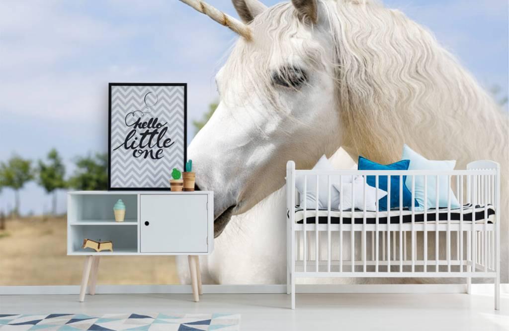 Horses - White unicorn - Children's room 6