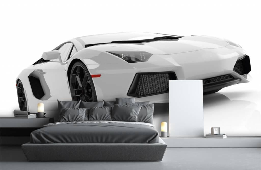 Transportation - White supercar - Teenage room 1