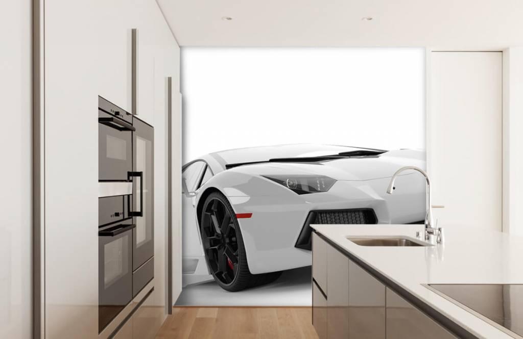 Transportation - White supercar - Teenage room 2