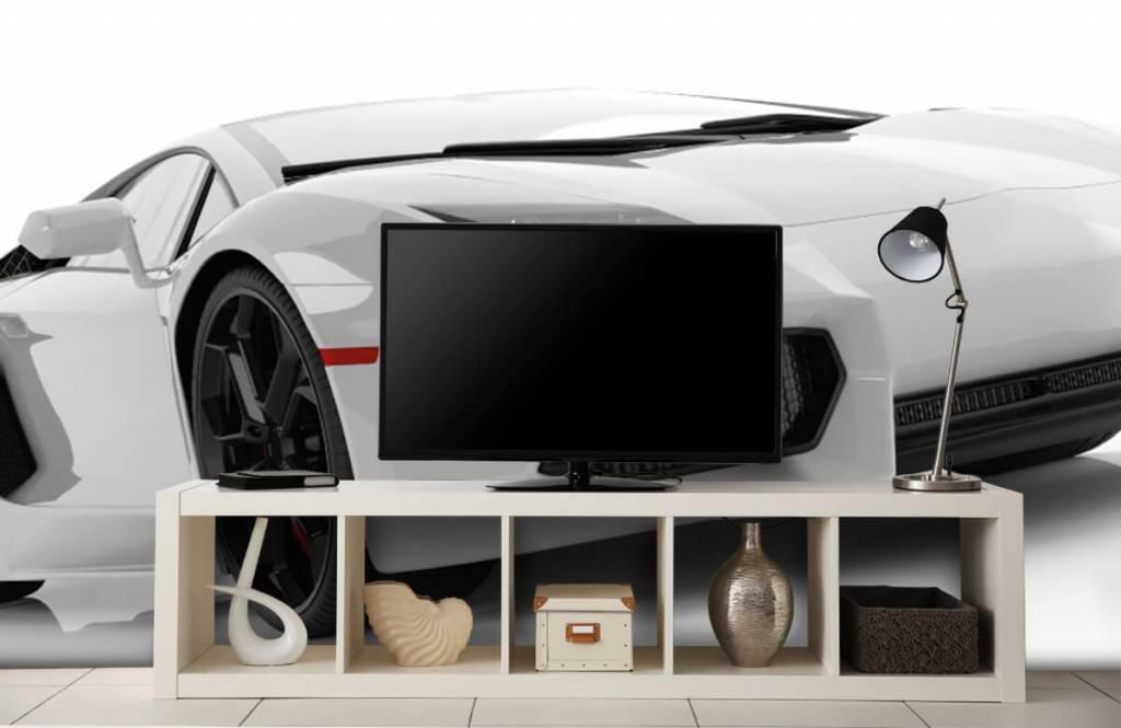 Transportation - White supercar - Teenage room 3