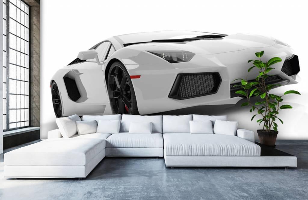 Transportation - White supercar - Teenage room 4