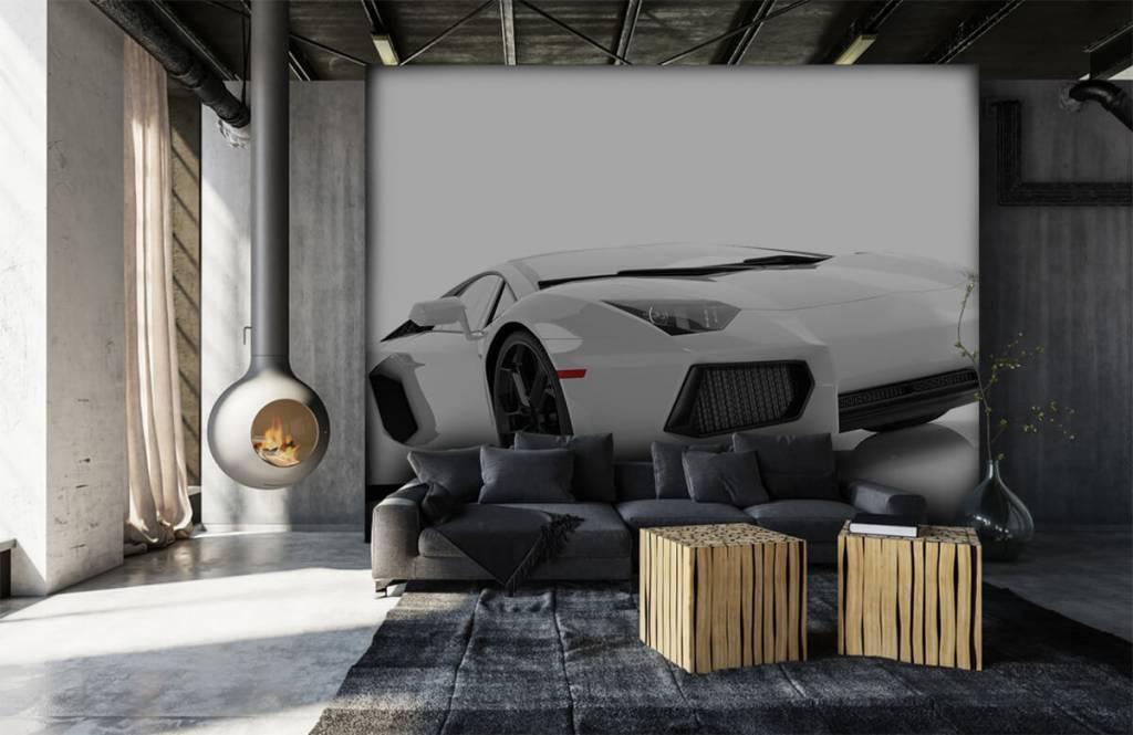 Transportation - White supercar - Teenage room 5