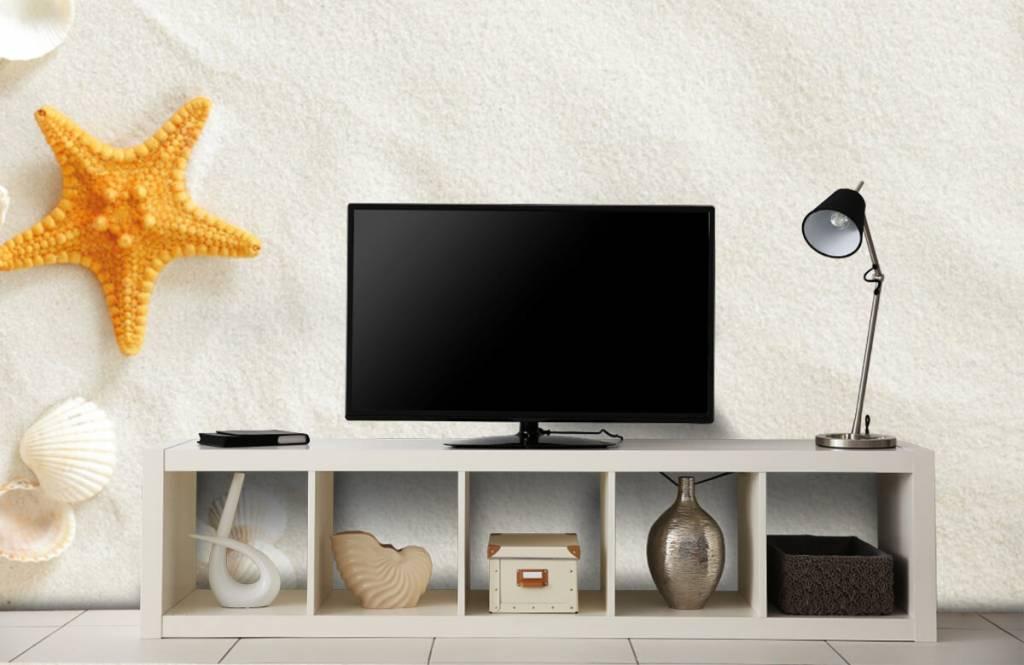 Beach wallpaper - Starfish on white sand - Bedroom 4