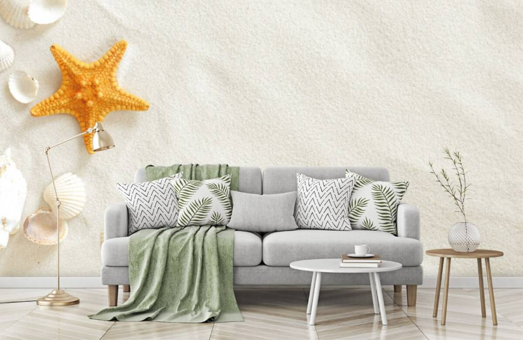 Beach wallpaper - Starfish on white sand - Bedroom 7