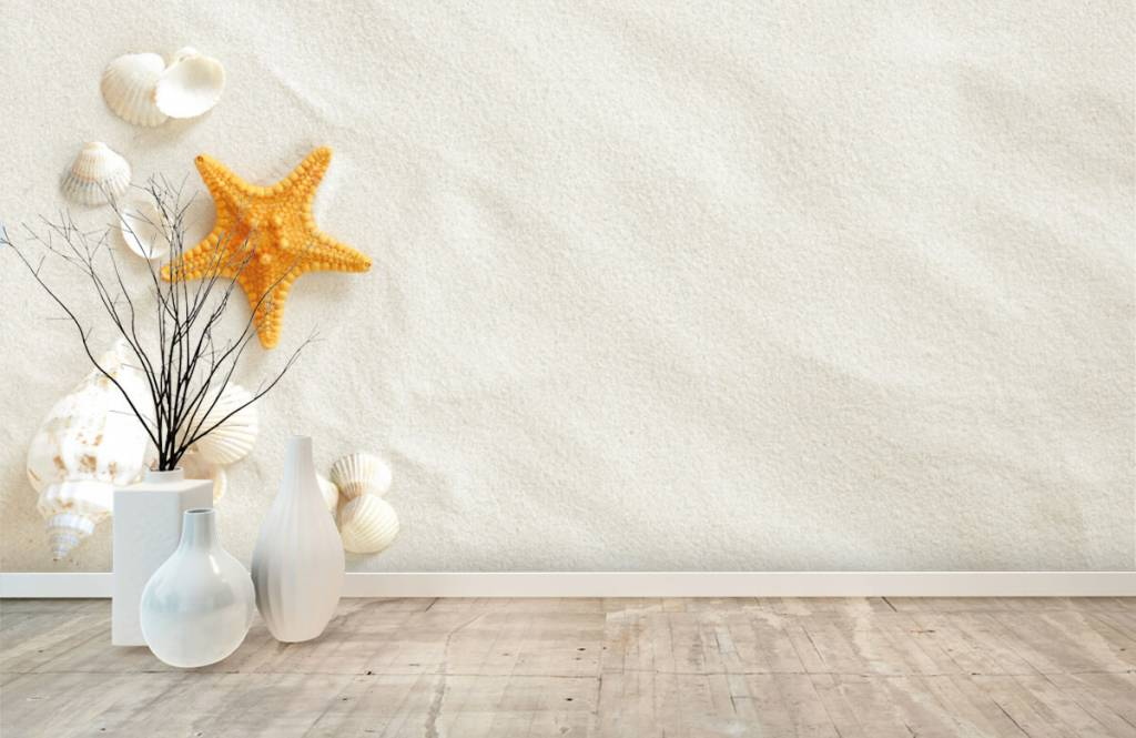 Beach wallpaper - Starfish on white sand - Bedroom 8