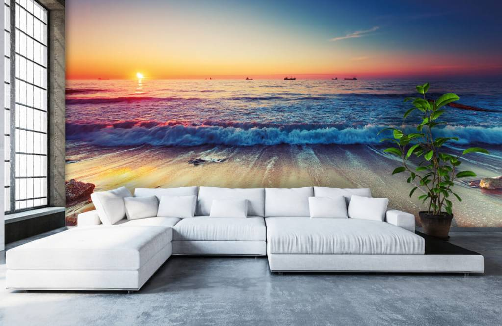 Beach wallpaper - Sunset over the sea - Bedroom 1