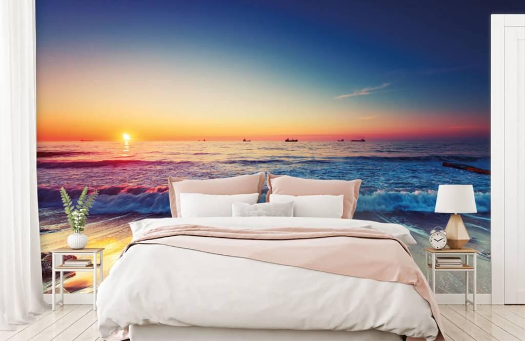 Beach wallpaper - Sunset over the sea - Bedroom 2