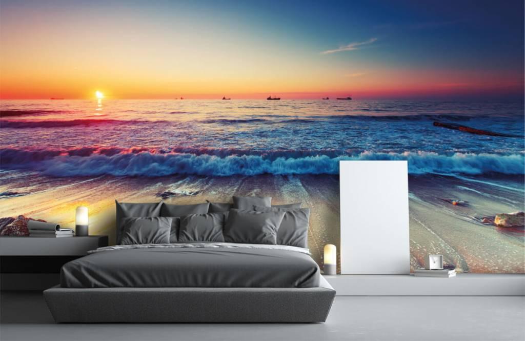 Beach wallpaper - Sunset over the sea - Bedroom 3