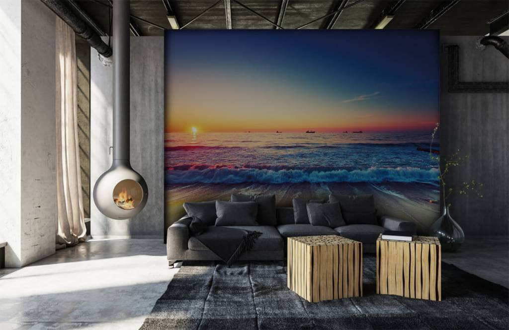 Beach wallpaper - Sunset over the sea - Bedroom 6