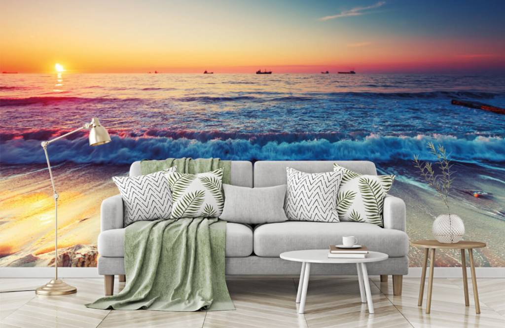 Beach wallpaper - Sunset over the sea - Bedroom 7
