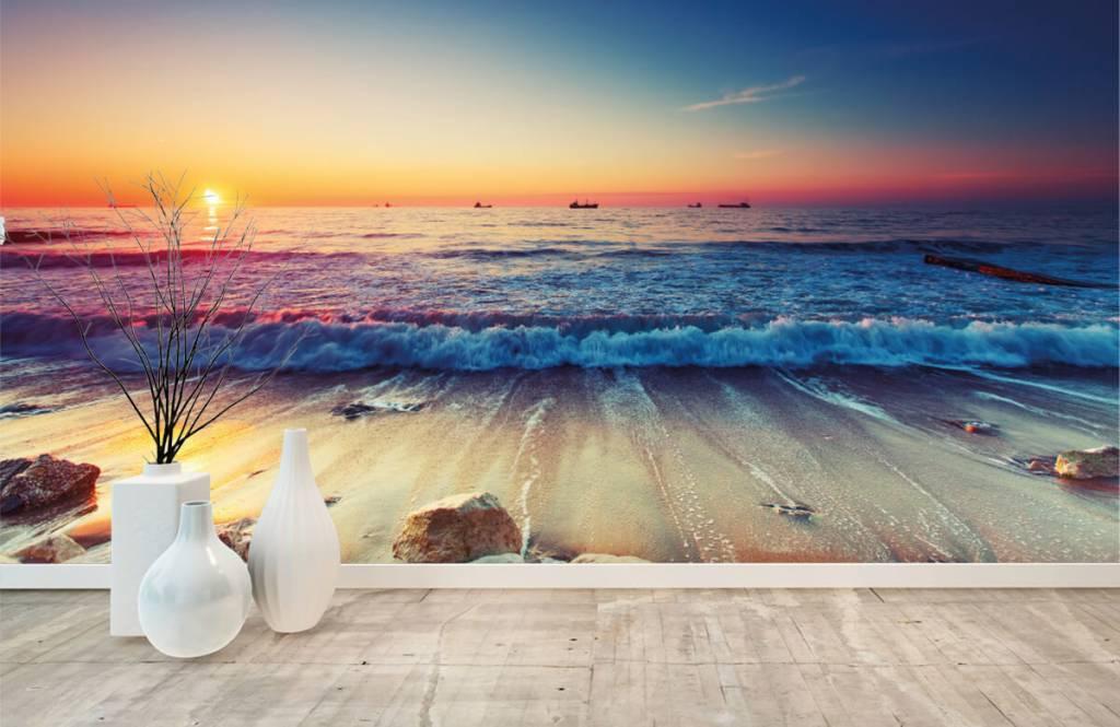 Beach wallpaper - Sunset over the sea - Bedroom 8