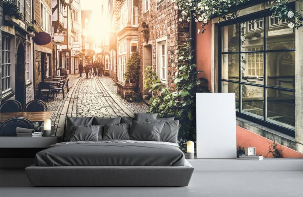 Cities wallpaper - Sunset in an old street - Bedroom 2
