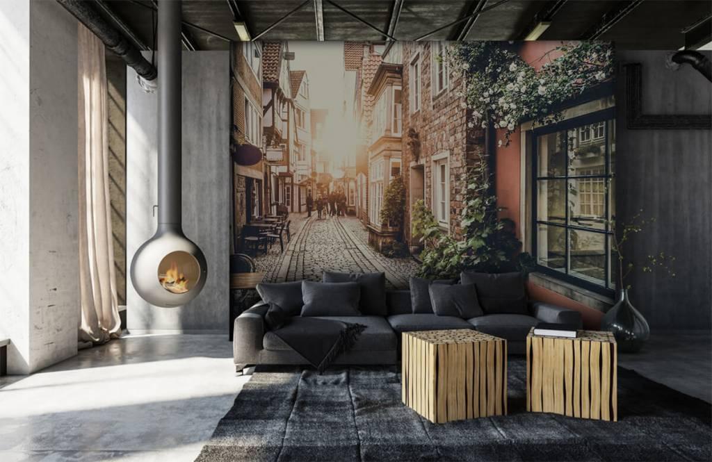 Cities wallpaper - Sunset in an old street - Bedroom 3