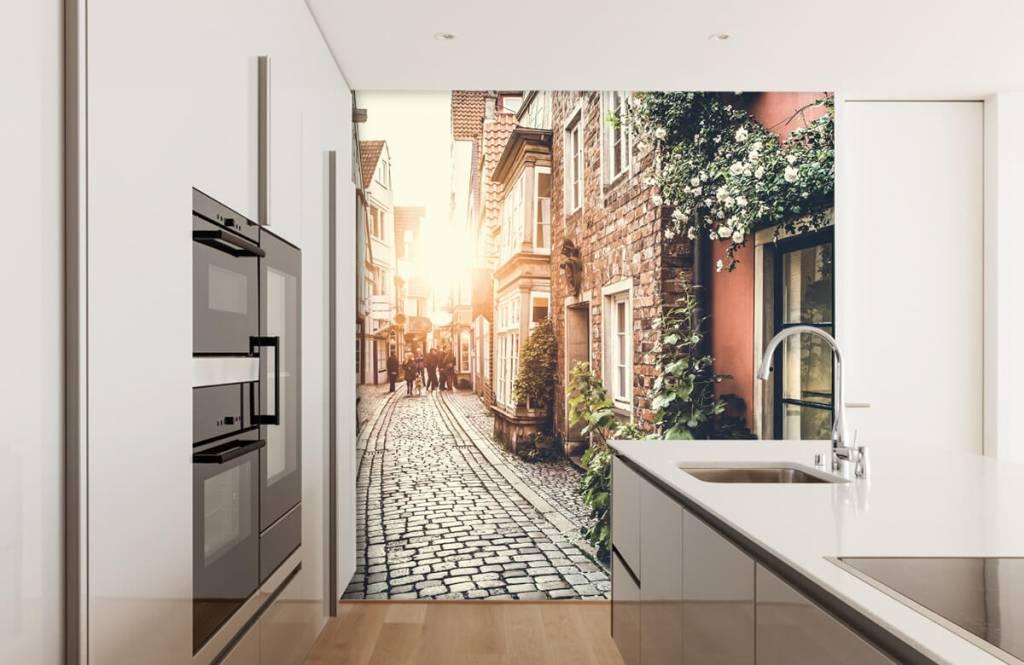 Cities wallpaper - Sunset in an old street - Bedroom 4