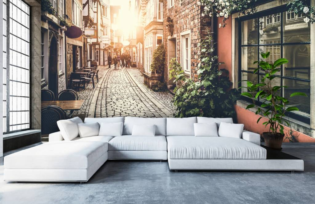 Cities wallpaper - Sunset in an old street - Bedroom 6
