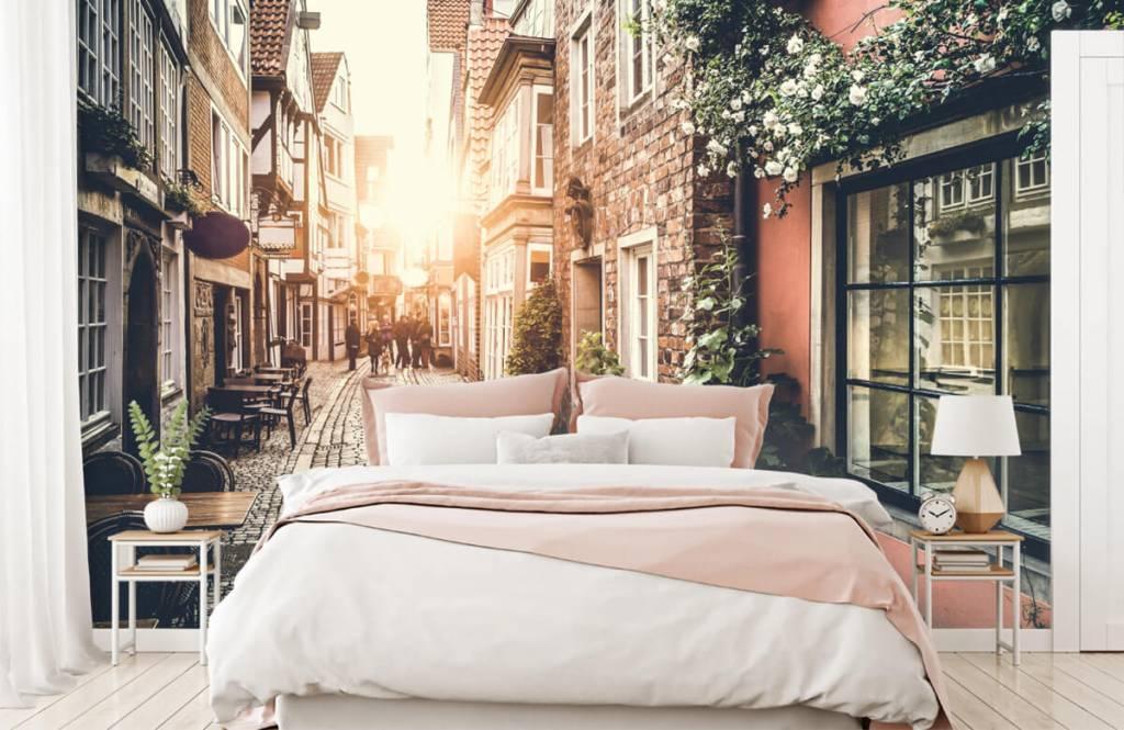 Cities wallpaper - Sunset in an old street - Bedroom 7