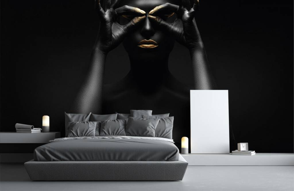 Portets and faces - Black painted woman - Living room 1