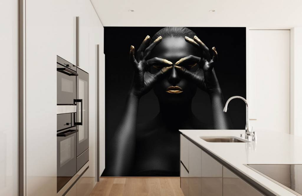 Portets and faces - Black painted woman - Living room 2