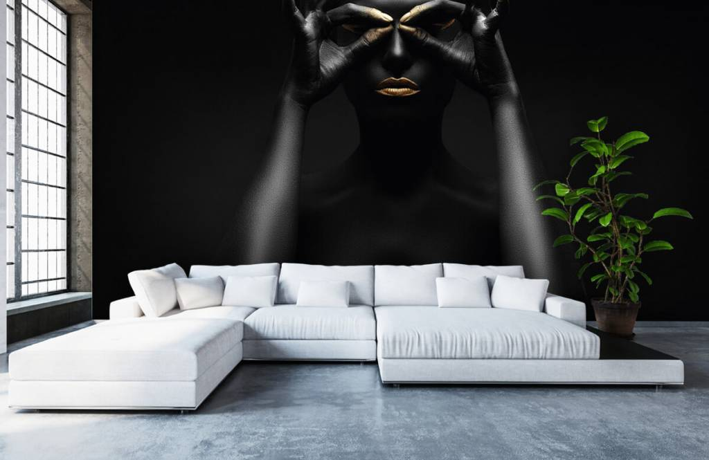 Portets and faces - Black painted woman - Living room 4
